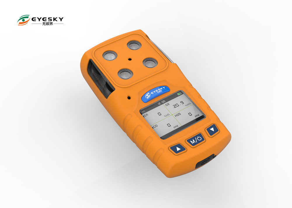 182G 4 In 1 Gas Detector , Portable Multi Gas Analyser With USB Charger Port