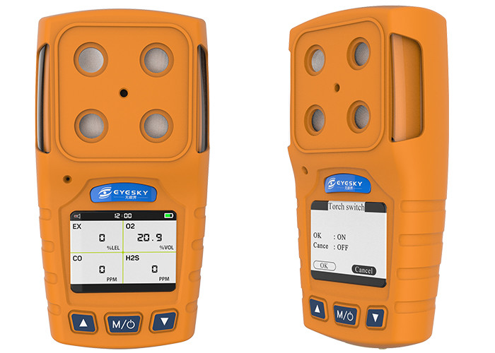 Iso9001 Certified Portable Multi Gas Analyzer For Ex H2S O2 Co
